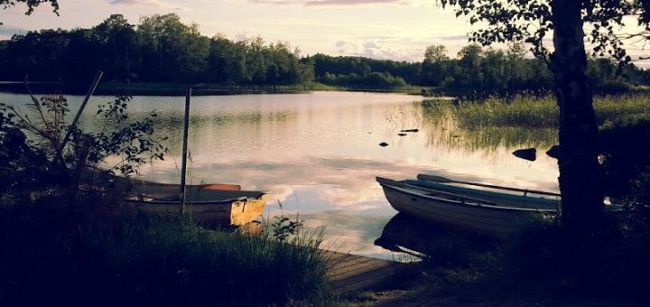 Schweden 2015, am See, Linneryd Camping