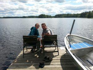 Schweden 2015, der schönste Platz am See, Linneryd Camping