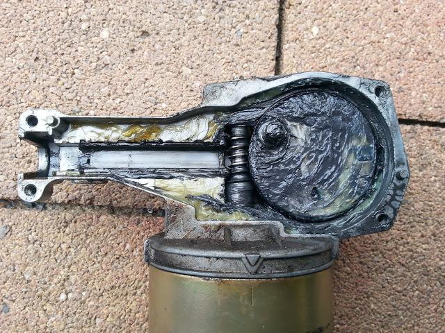 Td5, Scheibenwischermotor mit Getriebe