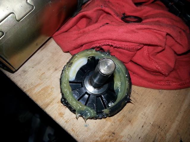 Td5, Scheibenwischergetriebe, Zahnrad mit Rampe