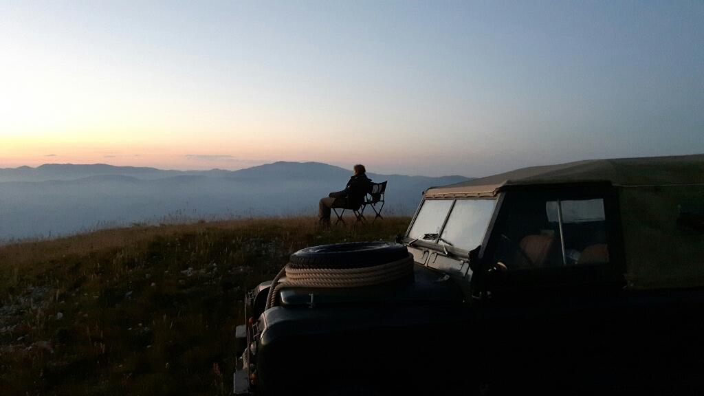 Entspanntes warten auf den Sonnenaufgang.