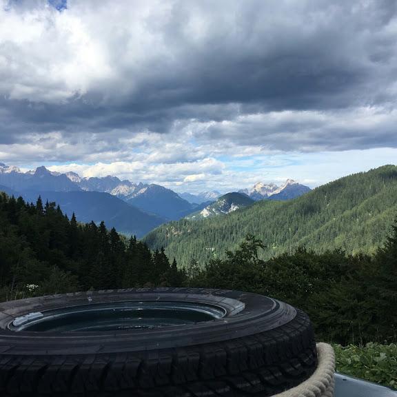 Blick über die Alpen.