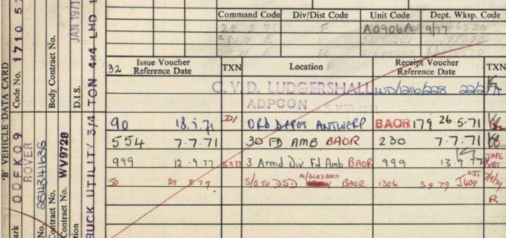 Army Record für die Serie.