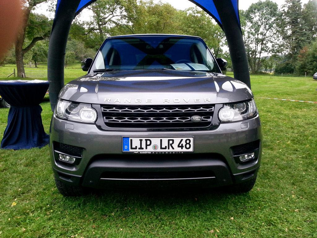 Range Rover Sport auf dem mammut Landy-Festival, 2014.