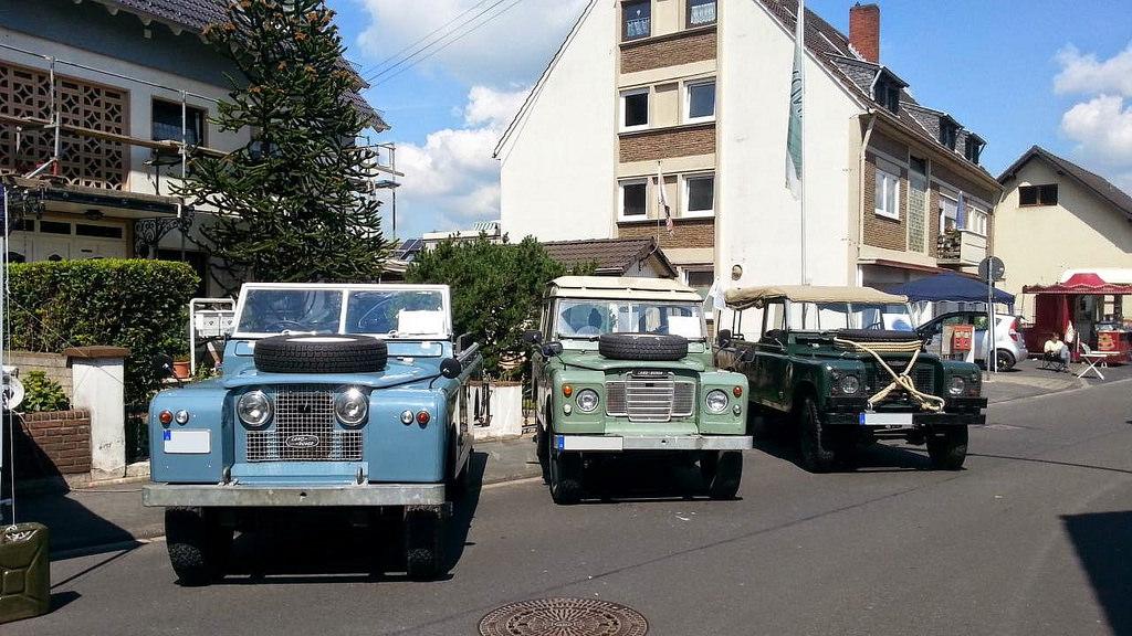 Die Landyfriends auf der Classic Cars & Caravans 2014 in Niederkassel.