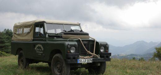 Land Rover Serie in den Pyrenäen